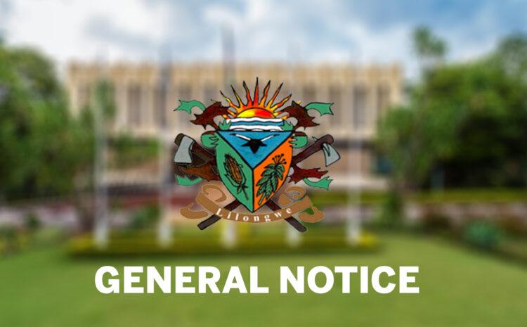 General Notice