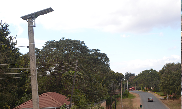 Area 10 solar street Lights Installation