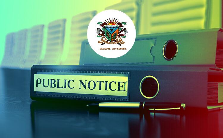 Lilongwe City Council Public Notice on Fraudsters
