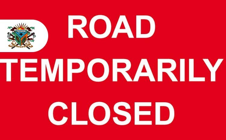 Temporary closure of part of the road near Chipiku Plus in Area 4