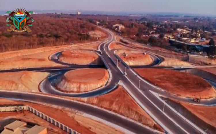 Road capacity expansion works in the city of Lilongwe